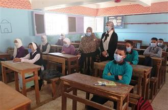 رئيس مدينة سفاجا تتفقد عددا من المدارس في أول يوم دراسي | صور