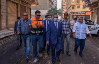 جولة مفاجئة لمحافظ الإسكندرية لمتابعة أعمال تطوير منطقة السيوف | صور