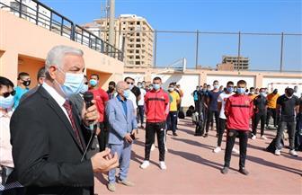 رئيس جامعة المنوفية يشهد تحية العلم بالتربية الرياضية في بداية العام الدراسي الجديد | صور