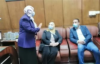 وزيرة التضامن ومحافظ الفيوم يفتتحان أعمال تطوير مبنى التضامن الاجتماعي | صور