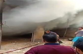 إخماد حريق في جراج سيارات مجاور لمحكمة طنطا بسبب ماس كهربائي | صور