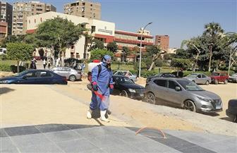 تعقيم الحرم الرئيسي لجامعة عين شمس | صور
