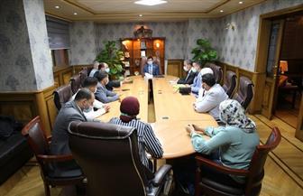 وزير الشباب والرياضة يلتقي اللجنة المنظمة لدوري الصم   صور
