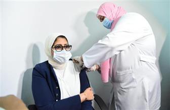 وزيرة الصحة تتلقى الجرعة الثانية للقاح فيروس كورونا| صور