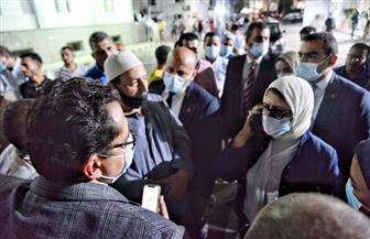 خلال زيارتها «فاكسيرا».. وزيرة الصحة تستجيب لطلب أحد المواطنين بعلاج زوجته