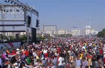 ألاف المصريين يشاركون في احتفالات النصر و دعم الرئيس السيسي