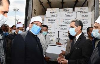 وزير الأوقاف يتفقد سيارات توزيع لحوم صكوك الأضاحى بالغربية