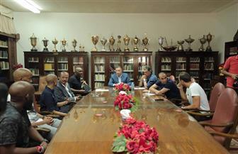 الخطيب يؤكد لموسيماني دعم الإدارة للجهاز الفني الجديد
