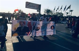 """مسيرات تجوب أرجاء """"المنصة"""" تؤكد دعمها للرئيس السيسي في احتفالية نصر أكتوبر   صور"""