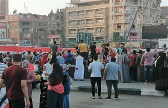 توافد المئات من المواطنين على ميدان السواقي للاحتفال بذكرى انتصارات أكتوبر في الفيوم | صور