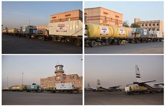بتوجيهات من الرئيس السيسي.. إرسال 3 طائرات عسكرية محملة بخطوط إنتاج الخبز للسودان