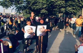 «الجزيرة فين.. الشعب المصري أهو».. هتافات المصريين بالمنصة | صور