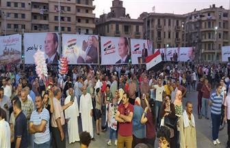 احتفالا بذكرى أكتوبر.. مواطنو الإسكندرية يحتشدون بميدان سيدي جابر