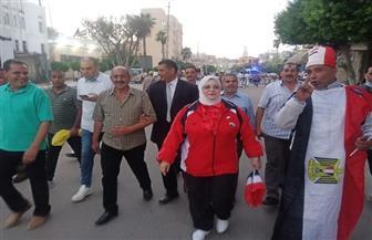 المئات من معلمي كفر الشيخ يتوافدون على ميدان النصر للمشاركة في احتفالات أكتوبر   صور