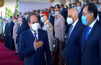 وصول الرئيس السيسي حفل تخرج دفعات جديدة من الكليات والمعاهد العسكرية