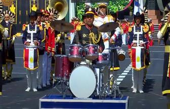 """الموسيقات العسكرية تهز أرض طابور الكلية الحربية بـ""""الأناشيد الوطنية"""""""