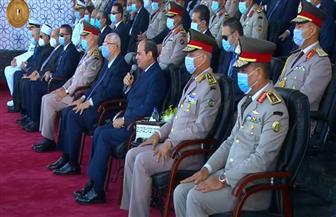 """الرئيس السيسي يوجه الشكر لأسر خريجي الكليات العسكرية: """"قدمتم أغلى ما لديكم للوطن"""""""