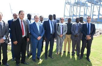 وزير ري جنوب السودان يزور المنطقة الاقتصادية لقناة السويس | صور