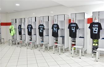 تجهيزات غرفة ملابس بيراميدز قبل مواجهة حورويا بالكونفيدرالية | صور