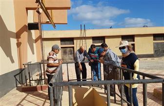 تشكيل فرق متخصصة لمراجعة أعمال صيانة محطات الصرف الصحي بمدينة دمياط الجديدة