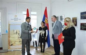 سفير مصر في بلجراد يفتتح معرض «امتداد الفن المصري عبر العصور» | صور