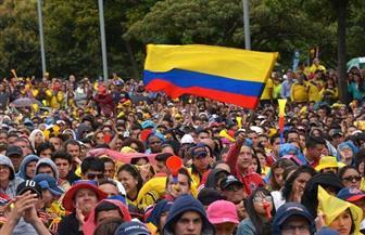 آلاف المتظاهرين يجتاحون شوارع كولومبيا