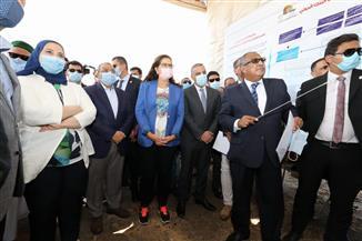 محافظ سوهاج و4 وزراء يفتتحون محطة معالجة ثلاثية للصرف الصحي بالهجارسة |صور