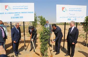 وزير التعليم العالي والسفير الفرنسي يتفقدان الجامعة الأهلية الفرنسية في مصر | صور
