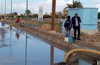 أمطار غزيرة على مدن الساحل الشمالي بمطروح وغلق مواني الصيد