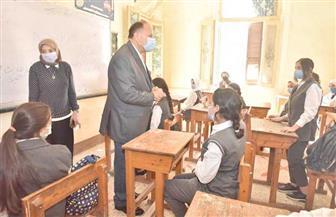 محافظ أسيوط يتفقد مدرستين لمتابعة الإجراءات الاحترازية للوقاية من كورونا | صور