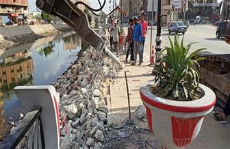 إصلاح هبوط أرضي مفاجئ بكورنيش ترعة القاصد فى طنطا | صور