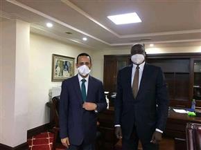 السفير المصري بجنوب السودان يلتقي وزير شئون الرئاسة