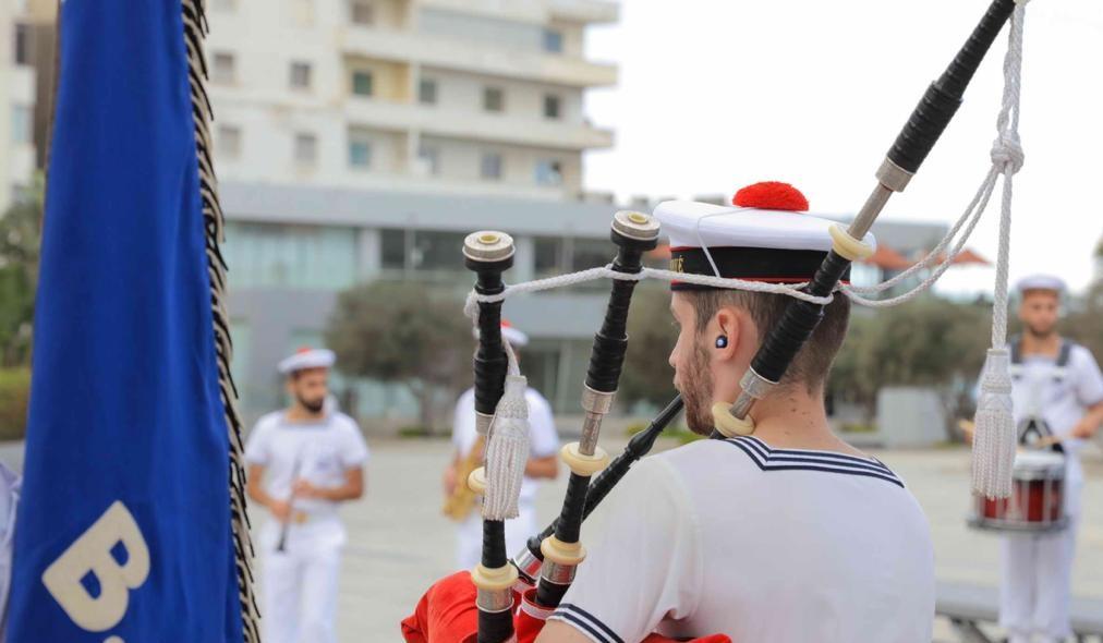 عرض فني لفرقة الموسيقى العسكرية الفرنسية بمكتبة الإسكندرية