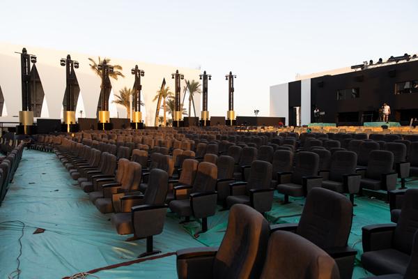 تجهيزات حفل افتتاح مهرجان الجونة