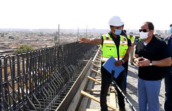 الرئيس السيسي يوجه بالالتزام الدقيق بمعايير ومواصفات الطرق الحرة | صور
