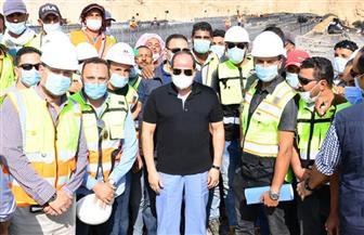 الرئيس السيسي يتفقد مشروعات التطوير بشبكة الطرق بالقاهرة الكبرى | صور