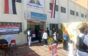 تزايد أعداد الناخبين على لجان الغردقة وسط إجراءات أمنية