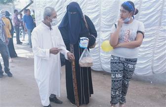 كبار السن وذوو الاحتياجات الخاصة يتصدرون مشهد الانتخابات بالهرم | صور