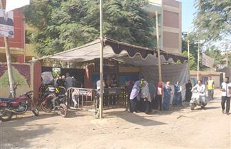 إقبال متزايد على اللجان الانتخابية بمدرسة جمال عبد الناصر بالفيوم