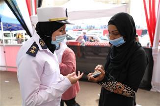 الشرطة النسائية في خدمة الناخبات بالجيزة | صور