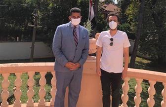 سفير مصر في بلجراد يلتقي مخرجي الفيلمين الصربيين المرشحين لمهرجان الجونة | صور