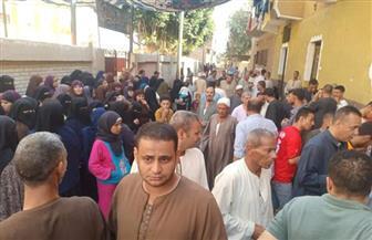 حشد كبير من المواطنين بلجان قرية كفر قنديل بمركز أطفيح للمشاركة في انتخابات النواب | صور