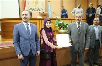 محافظ كفر الشيخ يشيد بالزهراء لايق لحصولها على المركز الأول عالميا في تلاوة القرآن | صور
