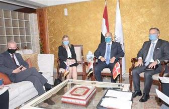 كامل الوزير يعقد اجتماعا مع سفيري الدنمارك والنرويج بالقاهرة لبحث التعاون بمجال النقل البحري | صور