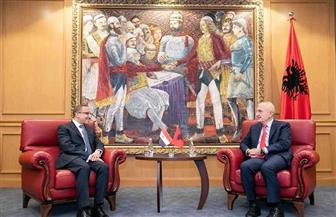 السفير المصري في تيرانا يقدم أوراق اعتماده للرئيس الألباني | صور