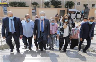 محافظ دمياط والسفير الريدي يتفقدان مشروع مكتبة مصر العامة تمهيدا لافتتاحه | صور