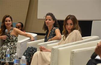 بحضور منة شلبي ورايا أبي راشد.. ندوة لتمكين المرأة بمهرجان الجونة السينمائي | صور