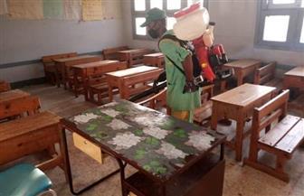 الانتهاء من تطهير وتعقيم المدارس التي كانت بها مقرات انتخابية بمرسى علم | صور