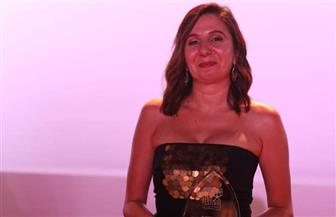 المنتجة الفلسطينية مي عودة تفوز بجائزة variety بمهرجان الجونة | صور