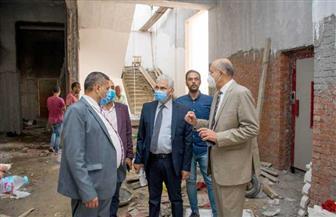 رئيس جامعة طنطا: الانتهاء من مشروع مبنى المدرجات بكلیة التربیة العام المقبل | صور